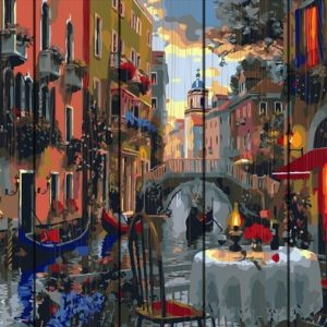 Pictura pe numere Lemn-Dinner in Venice