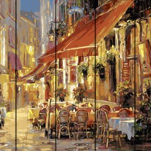 Pictura pe numere Lemn-Italy Street