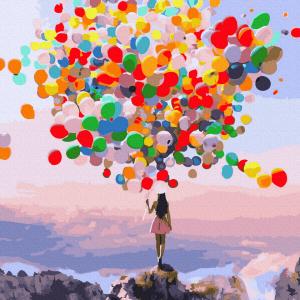 Pictura pe numere-Happy Balloons