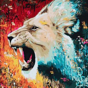 Pictura pe numere-Lion