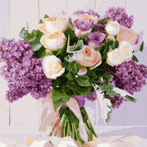 Pictura pe numere-Roses and lilacs