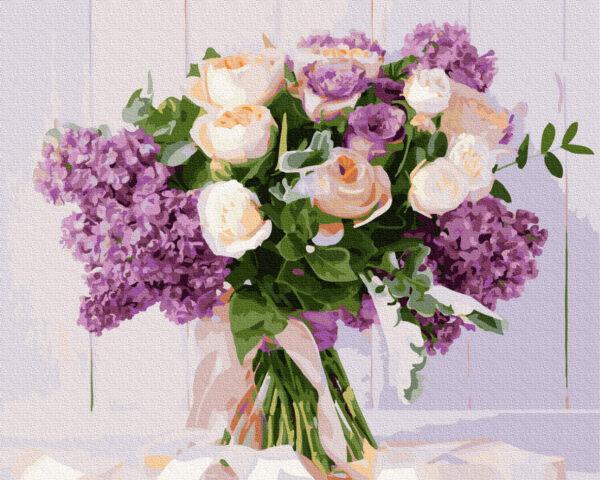 picturi pe numere lilacs
